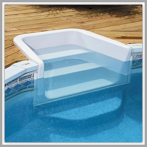 Above ground pools decks steps pool entry syste