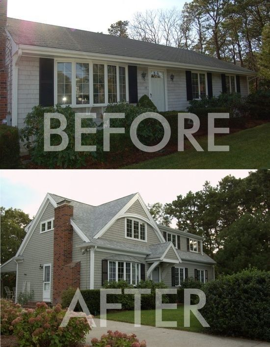 Before and after adding second story on s ranc
