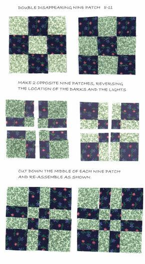 Disappearing patch quilt block