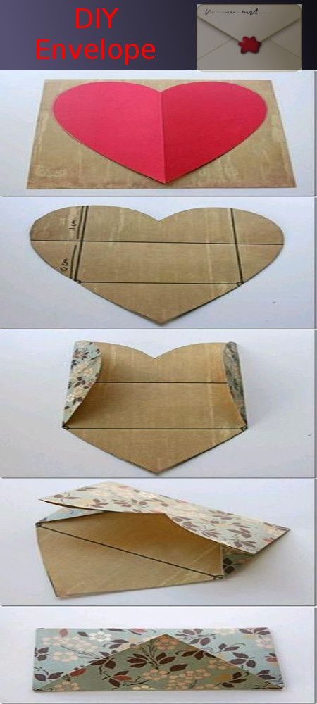Diy envelope i love this because there are time