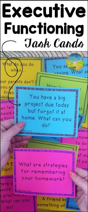 Executive functioning task cards to help wit