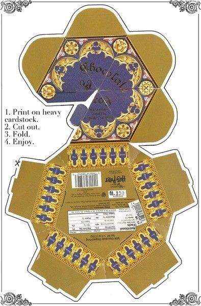 Harry potter party printable chocolate frog box