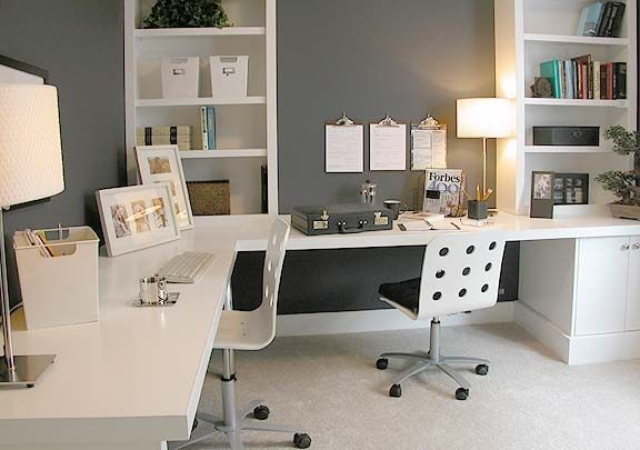 Home office design for two people