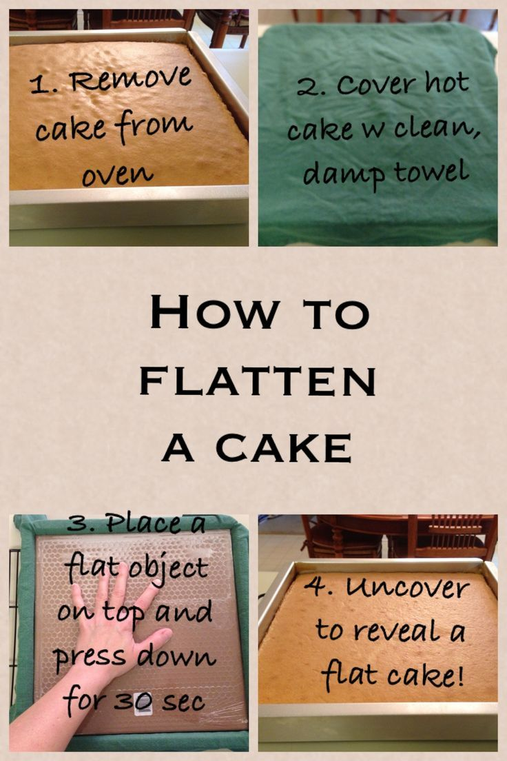 How to level a cake without slicing off any cake