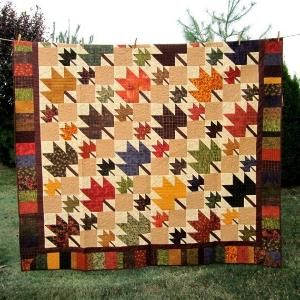 Leaf music quick seasonal fall harvest lap quil