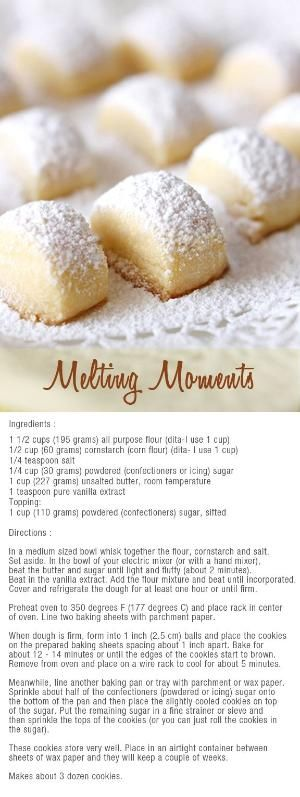 Melting moments bites to make with the kids